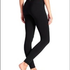 Athleta XS Black Stardust Leggings skinny leg